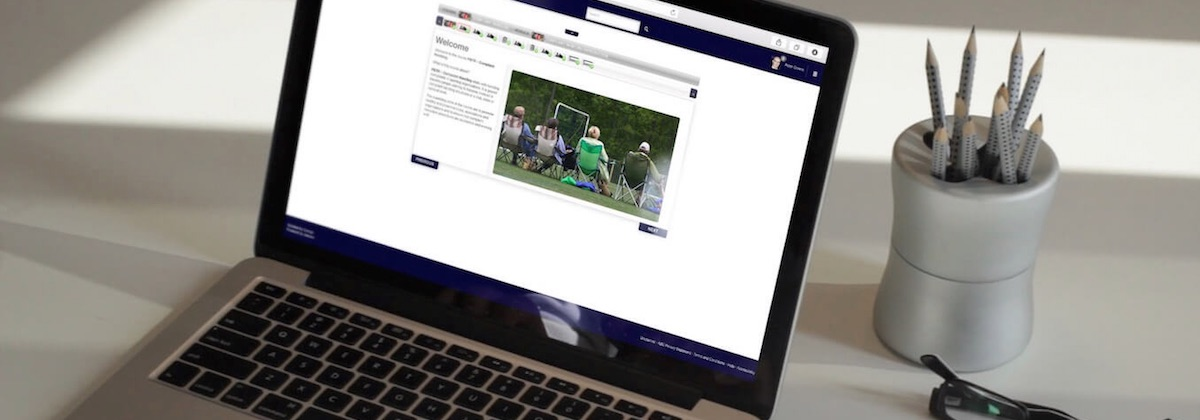 Screen image of the COmplaint Handling Online Course