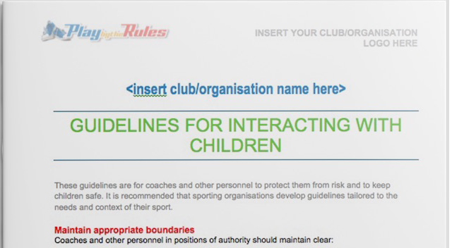 Guideline Interacting Children